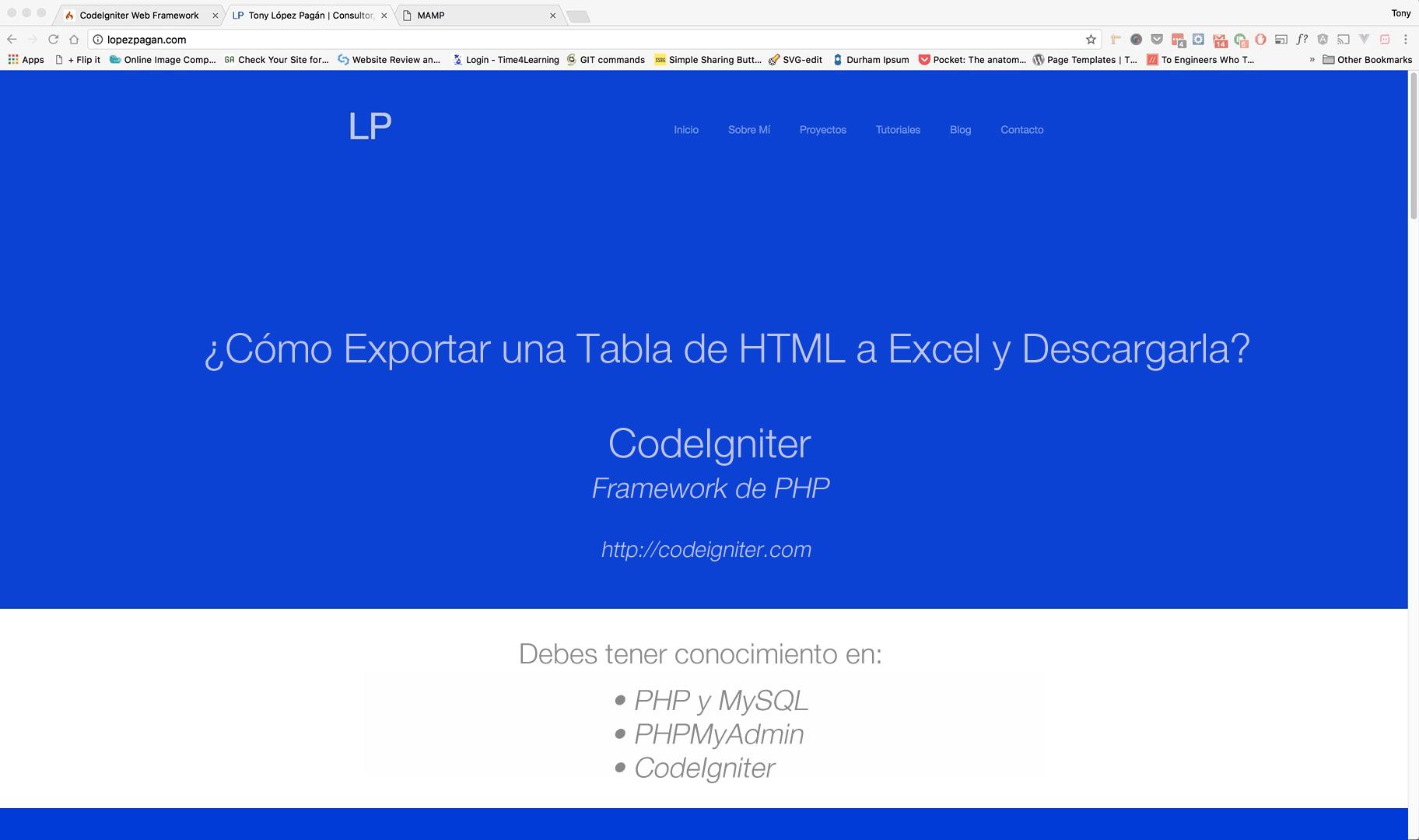 ¿Cómo Exportar una Tabla a Excel en CodeIgniter?