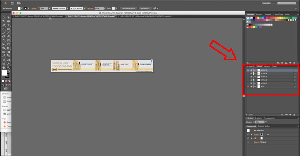 ¿Cómo Organizar el Diseño de un Web Banner Publicitario en Adobe Illustrator?