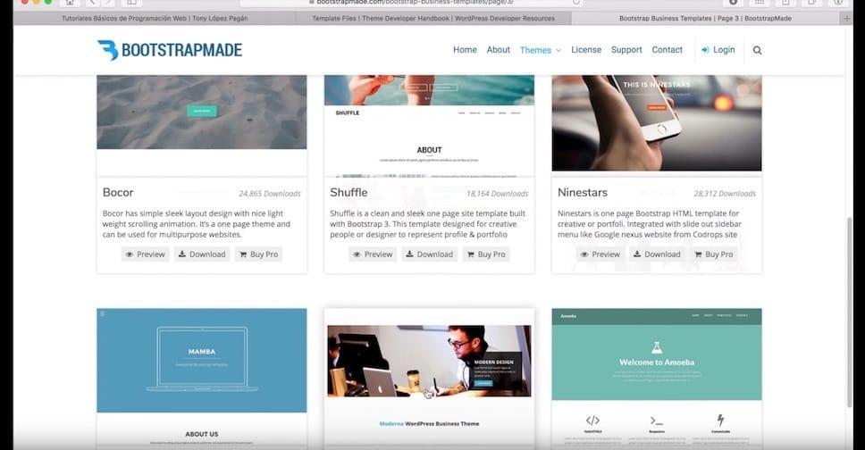 Descargar Archivos en HTML, Crear Header, Footer y Estilo