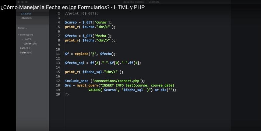 ¿Cómo Funcionan las Fechas en un Formulario con HTML y PHP?